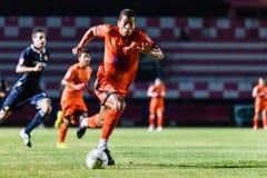 SISAKET Thailand-September 21: David Bala av Sisaket FC Arkivfoton