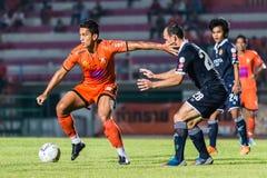 SISAKET THAILAND-September 21: David Bala of Sisaket FC. Royalty Free Stock Photography