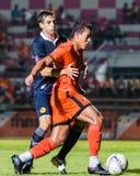 SISAKET THAILAND-September 21: David Bala of Sisaket FC. Royalty Free Stock Images