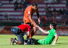 SISAKET THAILAND-September 21: David Bala of Sisaket FC. Royalty Free Stock Image
