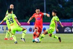 SISAKET THAILAND 12. SEPTEMBER: Ekkapan Jandakorn von Sisaket FC Lizenzfreie Stockbilder