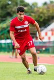 SISAKET THAILAND-September 17: Gorka Unda of Sisaket FC. Royalty Free Stock Photography