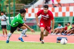 SISAKET THAILAND-September 17: Gorka Unda of Sisaket FC. Royalty Free Stock Images