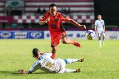 SISAKET THAILAND-SEPTEMBER 20: Jirawat Daokhao av Sisaket FC (nolla Royaltyfria Foton