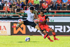SISAKET THAILAND-SEPTEMBER 16: Jirawat Daokhao of Sisaket FC. (o Stock Photography