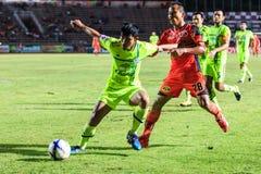 SISAKET THAILAND 12. SEPTEMBER: Jirawat Daokhao von Sisaket FC (O Lizenzfreies Stockfoto