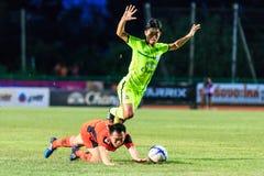 SISAKET THAILAND 12. SEPTEMBER: Khapfa Boonmatoon von Sisaket FC Lizenzfreies Stockbild
