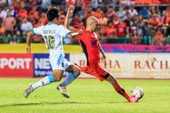 SISAKET THAILAND-SEPTEMBER 20: Mohsen Bayatinia av Sisaket FC ( Arkivfoto