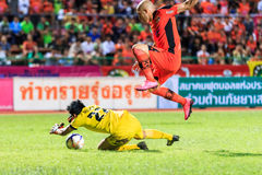 SISAKET THAILAND-SEPTEMBER 16: Mohsen Bayatinia of Sisaket FC. ( Royalty Free Stock Photo