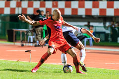 SISAKET THAILAND-SEPTEMBER 16: Mohsen Bayatinia of Sisaket FC. ( Royalty Free Stock Images