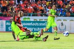 SISAKET THAILAND 12. SEPTEMBER: Mohsen Bayatinia von Sisaket FC ( Lizenzfreie Stockbilder