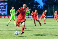 SISAKET THAILAND 12. SEPTEMBER: Mohsen Bayatinia von Sisaket FC ( Lizenzfreies Stockbild