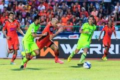 SISAKET THAILAND 12. SEPTEMBER: Mohsen Bayatinia von Sisaket FC ( Stockbilder