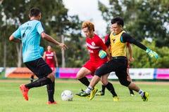 SISAKET THAILAND-September 17: Nuttawut Khamrin of Sisaket FC. Royalty Free Stock Photos