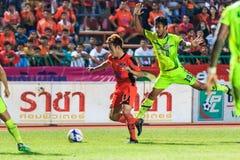 SISAKET THAILAND 12. SEPTEMBER: Nuttawut Khamrin von Sisaket FC ( Lizenzfreies Stockbild
