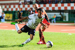SISAKET THAILAND-SEPTEMBER 16: Pakphoom Srichai of Pattaya Utd ( Royalty Free Stock Photography