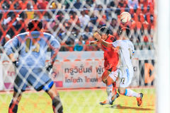 SISAKET 20 THAILAND-SEPTEMBER: Pisanu ngamsa-Nguan van Sisaket FC Royalty-vrije Stock Foto