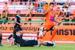 SISAKET 21 Thailand-September: Santirat viang-binnen van Sisaket FC Stock Afbeeldingen