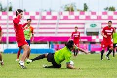 SISAKET THAILAND-September 17: Sarayuth Chaikamdee of Sisaket FC Stock Photos