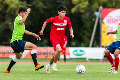 SISAKET THAILAND-September 17: Siwapong Jareansin of Sisaket FC. Royalty Free Stock Photos
