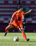 SISAKET THAILAND 21. September: Tadpong-Lar-tham von Sisaket FC Lizenzfreies Stockbild
