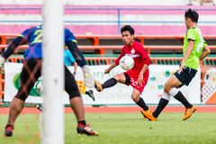 SISAKET THAILAND-September 17: Tatree Seeha of Sisaket FC. Royalty Free Stock Images