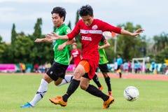 SISAKET THAILAND-September 17: Tatree Seeha of Sisaket FC. Royalty Free Stock Photos