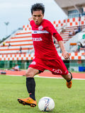 SISAKET THAILAND-September 17: Tatree Seeha of Sisaket FC. Stock Image
