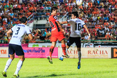 SISAKET THAILAND-SEPTEMBER 16: Tatree Seeha of Sisaket FC. (oran Royalty Free Stock Photography