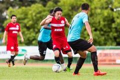 SISAKET THAILAND-September 17: Terukazu Tanaka of Sisaket FC. Royalty Free Stock Photo