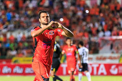 SISAKET THAILAND-SEPTEMBER 16: Victor Amaro of Sisaket FC. in ac Royalty Free Stock Image