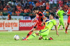 SISAKET THAILAND 12. SEPTEMBER: Victor Amaro von Sisaket FC (Oran Stockbild
