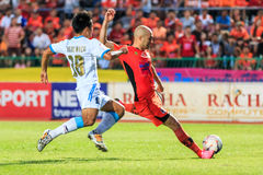 SISAKET THAÏLANDE 20 SEPTEMBRE : Mohsen Bayatinia de Sisaket FC ( Photo stock