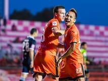 SISAKET wrzesień 21: Jirawat Daokhao Sisaket FC Zdjęcie Stock