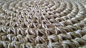 Beige sisal rug Decoration. Sisal beige carpet made in Brazil, South America royalty free stock photos
