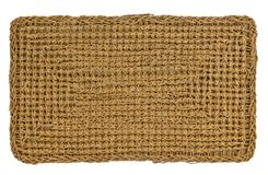 Sisal Mat on white. Background royalty free stock photography