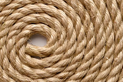 Sisal rope. Backgrounds and textures: sisal rope arranged as background, close-up shot royalty free stock photos