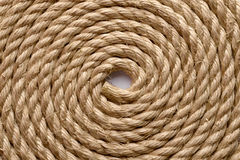 Sisal rope. Backgrounds and textures: sisal rope arranged as background, close-up shot stock photo