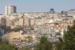 Sishane区,伊斯坦布尔,土耳其 免版税库存图片