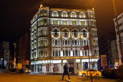 Sishane历史建筑Beyoglu伊斯坦布尔 免版税库存照片