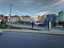 Sishane街和大厦Beyoglu 免版税库存图片