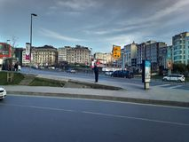 Sishane ulica Beyoglu i budynki obraz royalty free