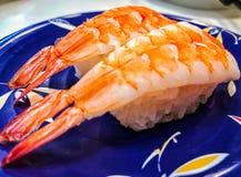 Sishi japonês do camarão foto de stock