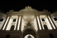 Sisi Museum (located in Hofburg Palace) in Vienna at night Royalty Free Stock Image