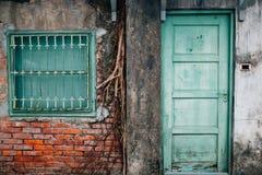 Sisi Nan Cun eller fyra fyra södra by, gammal militär by på Taipei, Taiwan Fotografering för Bildbyråer