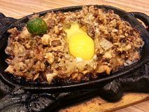 Sisig - a Philippine dish Royalty Free Stock Images