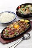 Sisig and sinigang, filipino cuisine. Pork sisig and sinigang, filipino cuisine Stock Photography