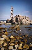 Sisiman Lighthouse. An old spiral lighthouse that no longer works stock images