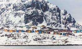 Sisimiut 2-ой самый большой Greenlandic город Стоковые Изображения