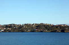 Sisimiut in Grönland lizenzfreie stockfotografie